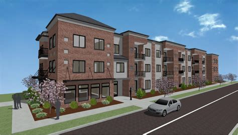 3 story building apartment 3 story 20 units p marcille architect