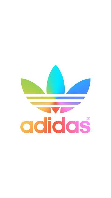 wallpaper iphone 5 adidas レインボー アディダスロゴ adidas logo iphone壁紙 ただひたすらiphoneの壁紙が集まるサイト