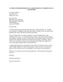 how to write a cover letter for a exle how to write a cover letter for a posting