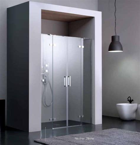 anta doccia nicchia porta battente a doppia anta per doccia a nicchia quot 8mill