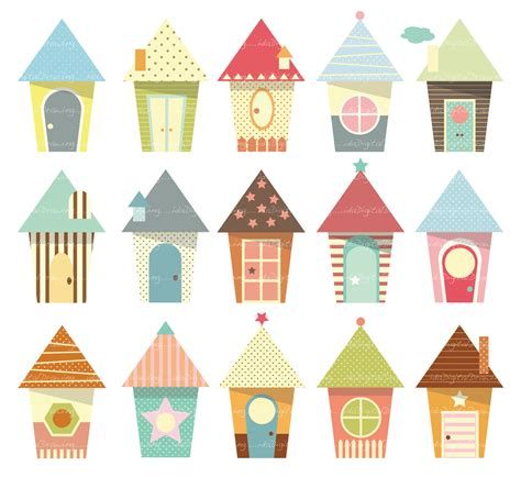 cute house houses cliparts