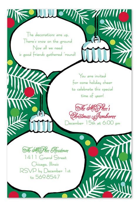 letter inviting college staff to christmas holiday potluck hanging ornaments invitations by invitation consultants icgp in 62
