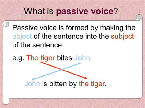 what is the sentence pattern of passive voice passive voice ppt video online download