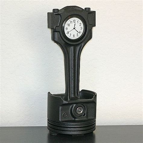 piston rod into clock manly man cave ideas pinterest