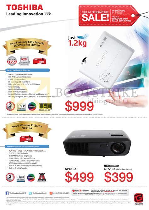 Proyektor Toshiba Npx10a toshiba projectors sdw30 npx10a pc show 2013 price list brochure flyer image