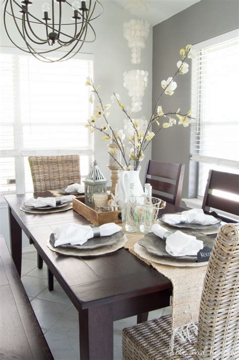 coastal dining room table dining room update a coastal farmhouse table setting