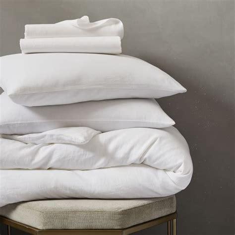 Belgian Linen Bedding Sets Belgian Flax Linen Bedding Set White West Elm