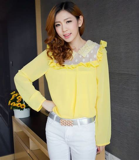 Blouse Import Murah 1841 Yellow 71 best images about ootd on maxi skirts skirts and kpop