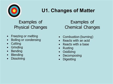 exle of physical change topic 1 1 matter change ei physical and chemical properties depend on the ways in which