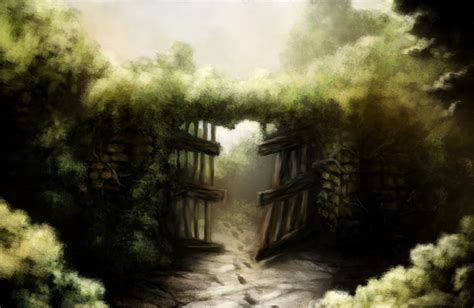 gate to the secret garden by jakobhansson on deviantart