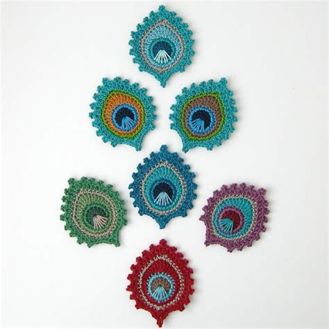 pattern motif crochet crochet peacock feather quot burma quot motif and bookmark crochet