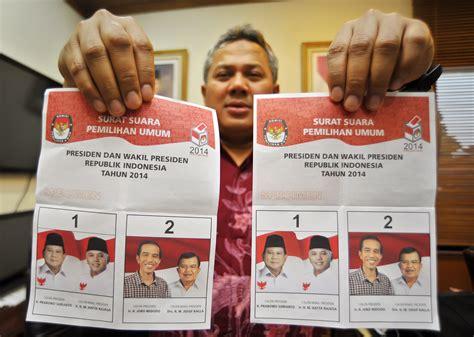 kpu tetapkan surat suara pilpres 2014 berita daerah