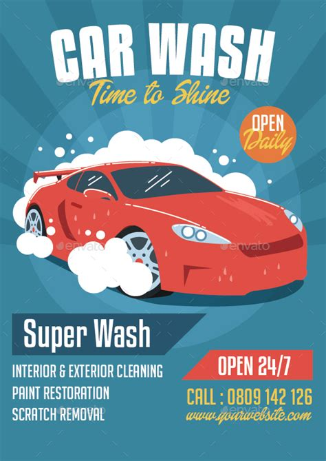 car wash poster template free free car wash poster template free free template design