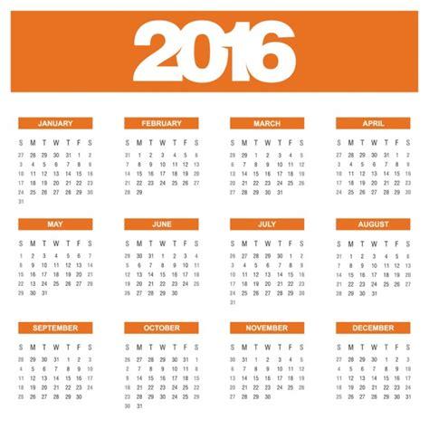 calend 225 de laranja anual de 2016 baixar vetores gr 225 tis