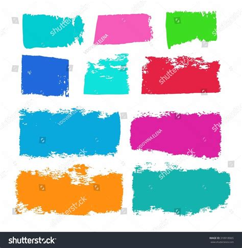 paint color trail brush paint roller stock vector 318918065