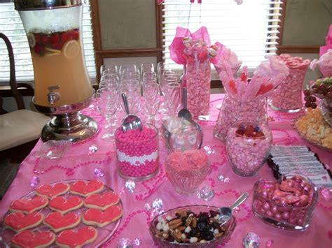 pink and purple buffet buffet pink and purple bridal shower ideas
