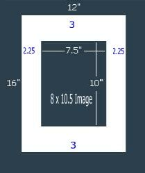 10 X 3 Framing Archival Mat by 15 Pk 6 Ply Archival White 12x16 Single For 8 X 10 5