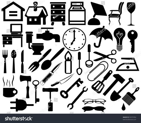 home furniture and items collection of household home appliances icons furniture