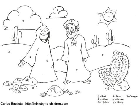 coloring pages jesus tempted desert temptation of jesus coloring page az coloring pages