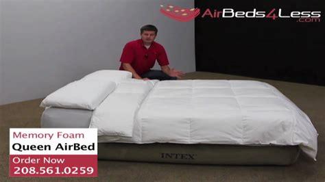 intex raised memory foam air bed khaki