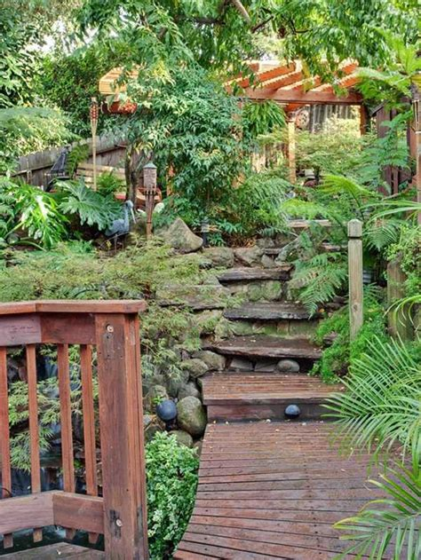 landscaping  ideas  tropical retreat   garden