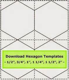 Hexagon Patchwork Templates - 7 inch hexagon pattern use the printable outline for