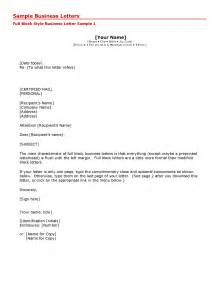 business letter format and sle business letter format