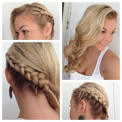 hairstyles with loose curls and braids side braid hairstyles side braid with classic curls