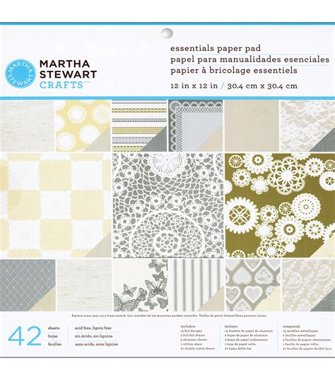 Martha Stewart Craft Paper - martha stewart crafts kraft paper pad doily lace