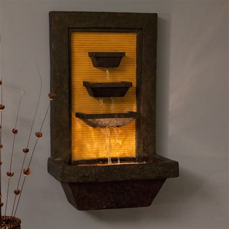 kenroy bamboo cascada indoor outdoor wall fountain