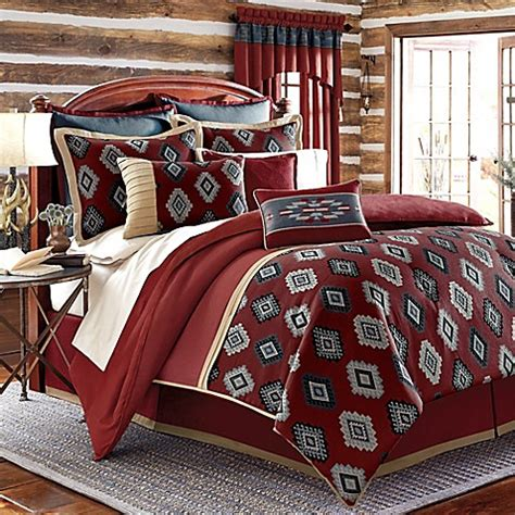 red california king comforter sets buy remington lodge cabot california king comforter set in