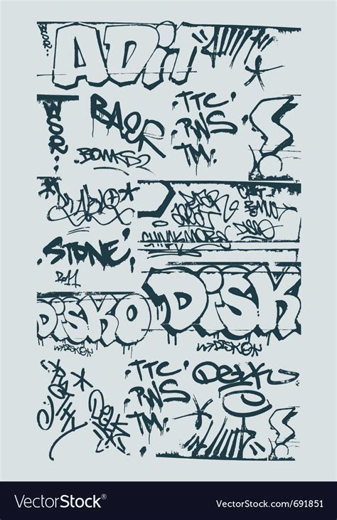 graffiti vector design elements 25x eps graffiti design elements royalty free vector image