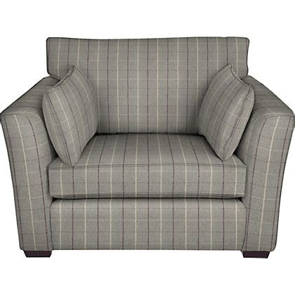 grey check sofa image for wyatt snuggler sofa angus light grey and purple