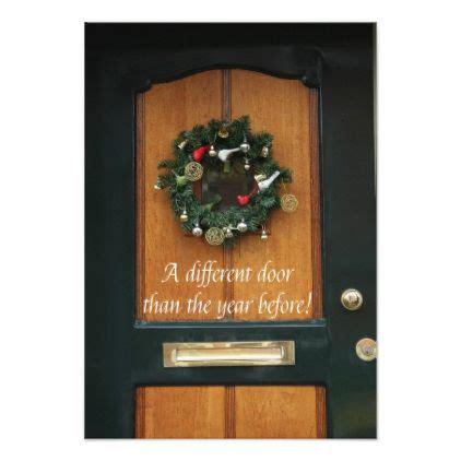 door christmas wreath  address card merry christmas diy xmas present gif