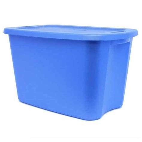 18 gallon storage containers sterilite 18 gallon tote box lapis blue storage bin