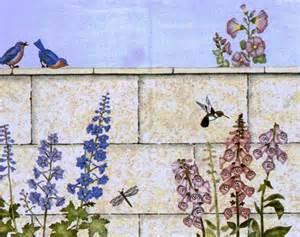 379 garden wall mural yowler amp shepps stencils