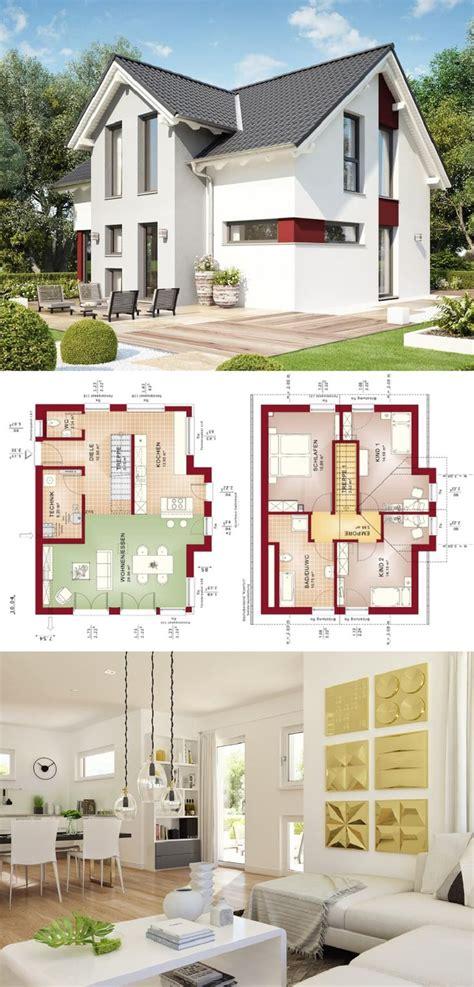 einfamilienhaus mit satteldach grundriss modern offen