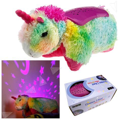 unicorn lites children boy cuddly pet pillow