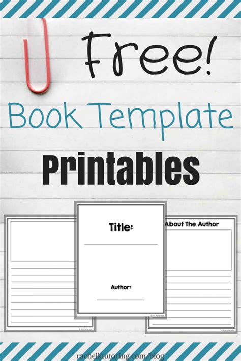 book templates free free book template printables k tutoring
