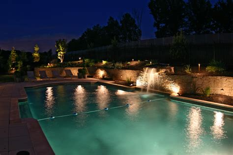 Backyard Pool Lighting Creative Ideas For Outdoor Garden Lighting With Decorative