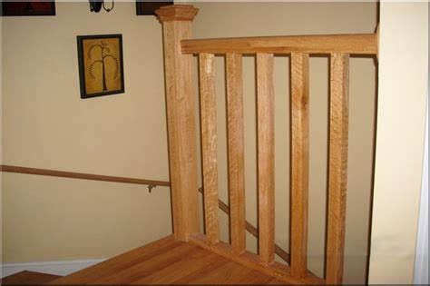 landing banister white oak banister upper floor landing of light oak