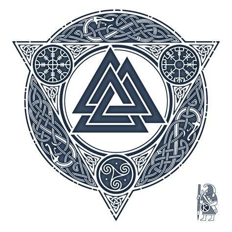 valknut tattoo designs valknut knotwork design by raidho