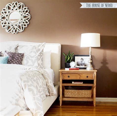 diy bed table diy bedside table with drawer and shelf free plans