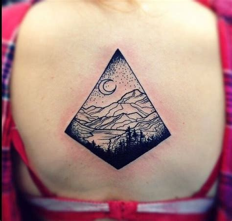 mountain scene tattoo designs mountain blackworkers tattoos the