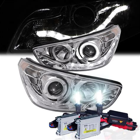 hyundai accent led headlights hid xenon 12 13 hyundai accent eye halo led
