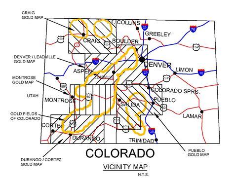 map of colorado gold colorado gold maps colorado gold panning maps colorado
