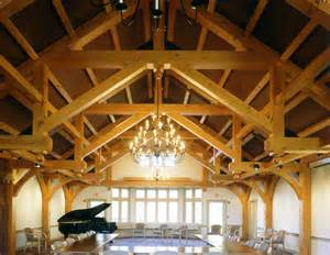 Mountain Lodge Floor Plans modified hammer beam trusses arched webs and braces