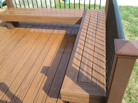 decking benches 48 best trex transcends decks images on pinterest