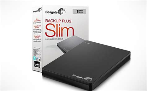 Seagate Backup Plus Slim 1tb Hdd Hd Hardisk External U1064 dealdey seagate backup plus slim portable external drive 1tb