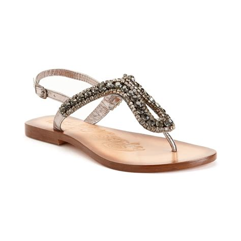 Monkey Luxury Heels by Monkey Pony Pass Flat Sandals In Gray